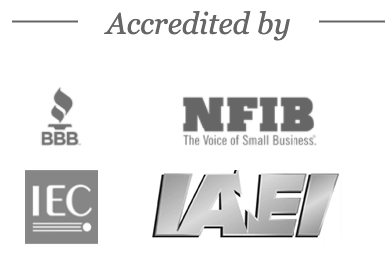 accredited by logos